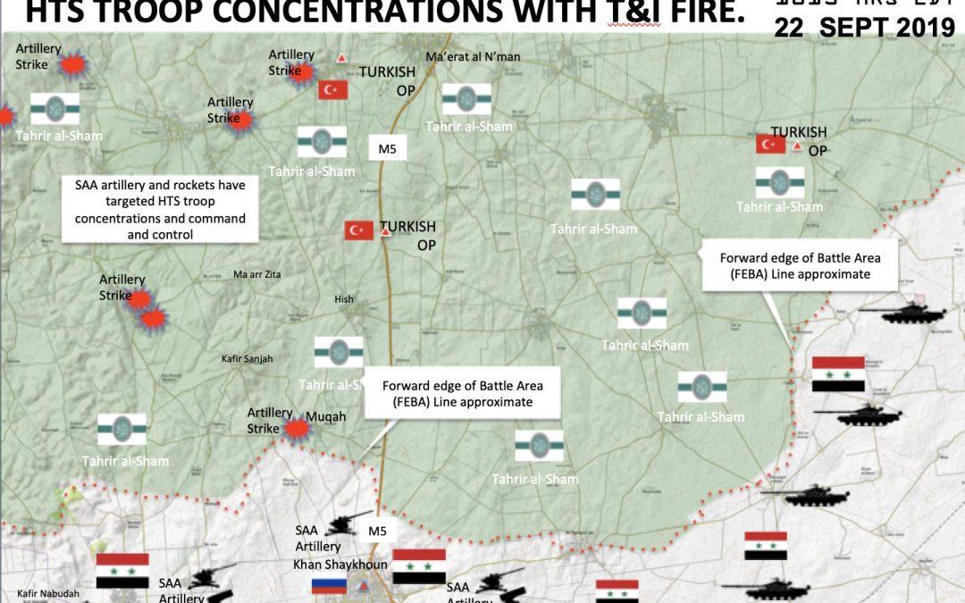 Situace v provincii Idlíb – statická fronta