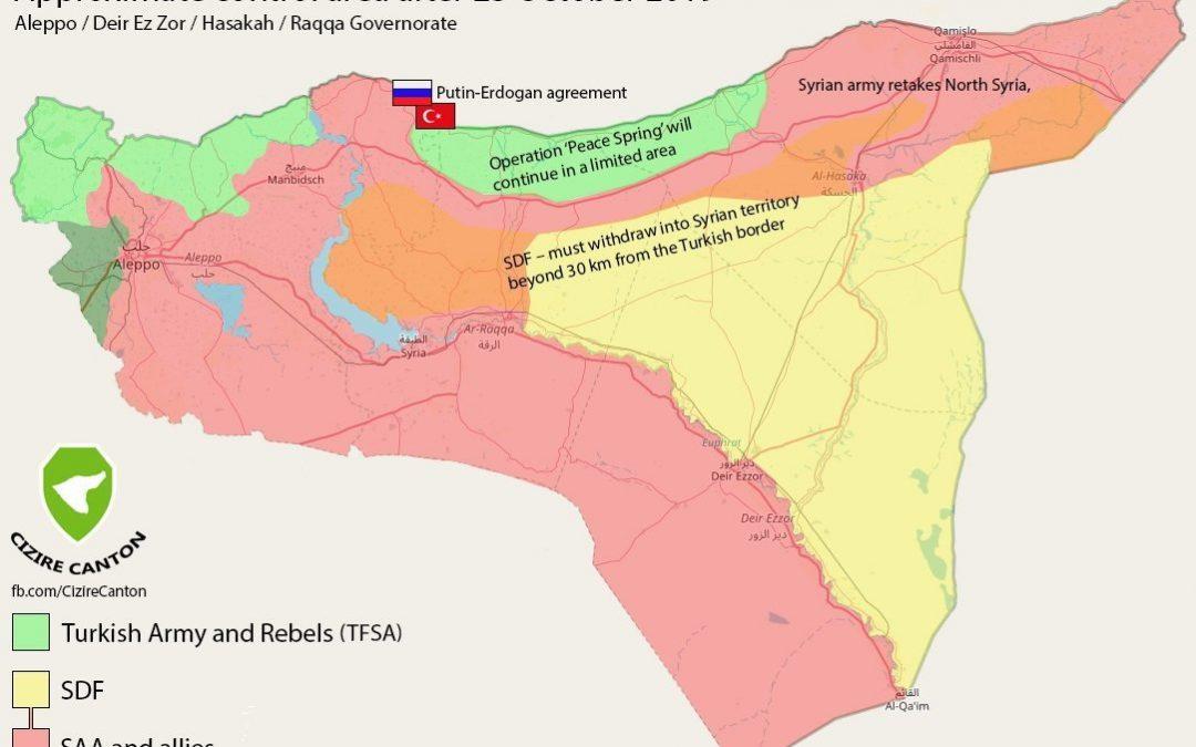 Situace v severní Sýrii po rusko-turecké dohodě