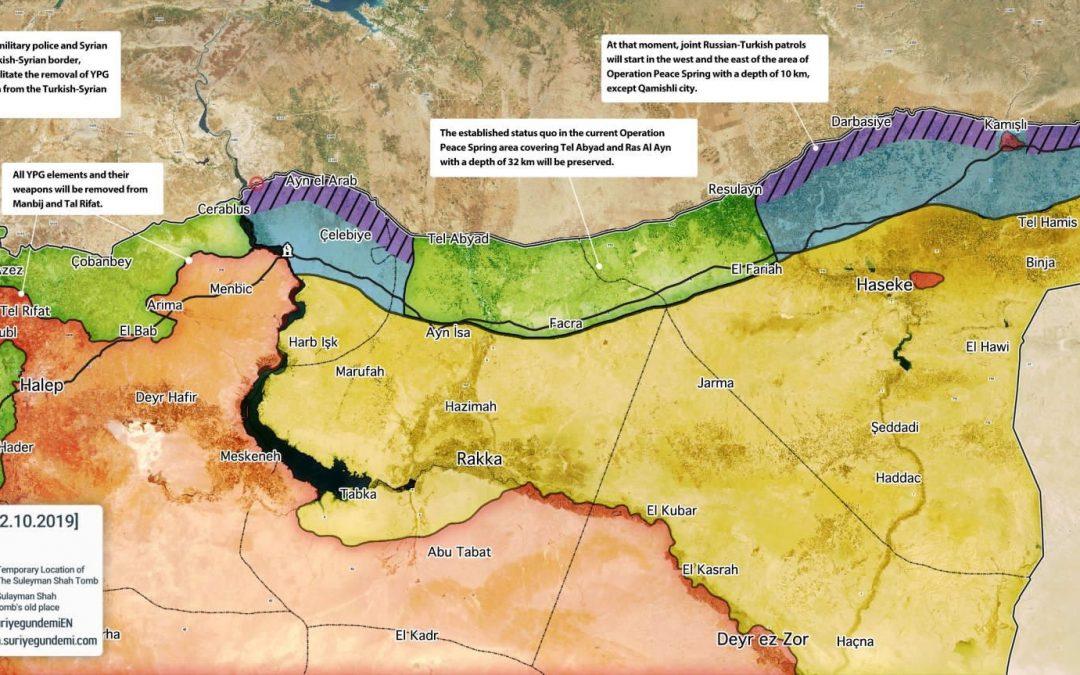Rusko-Turecká dohoda o rozdělení severní Sýrie