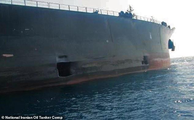 Poškození íránského tankeru