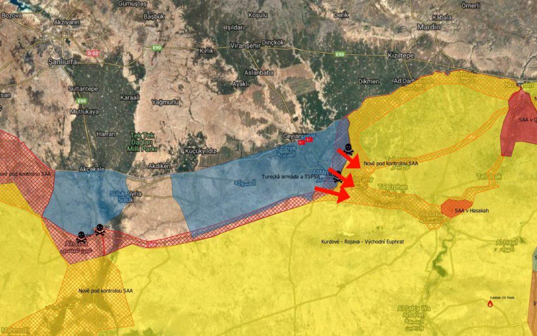 Turecká armáda postupuje – SAA prchá