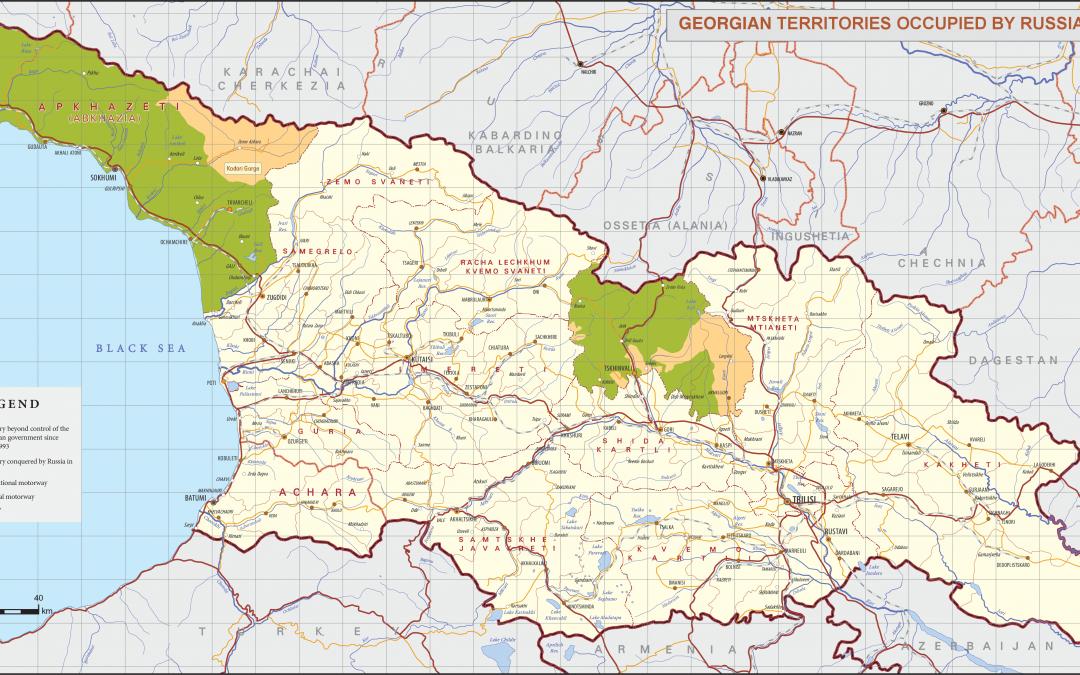 Okupované území Gruzie