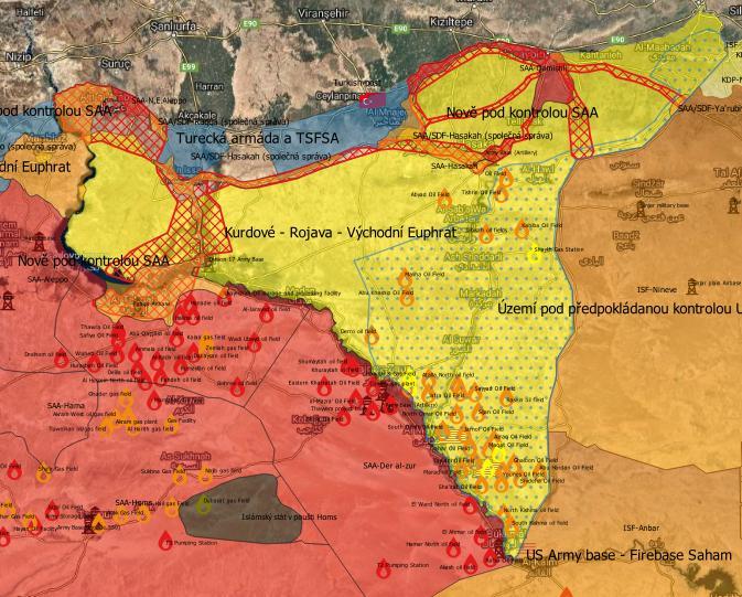 Předpokládaný rozsah území Sýrie pod kontrolou USA