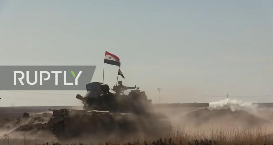 SAA nasadila poprvé tanky proti Turecku