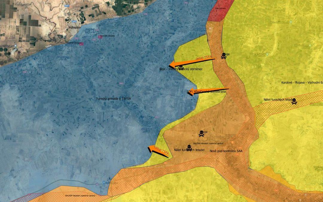 Situace v s. Sýrii – ústup TFSA