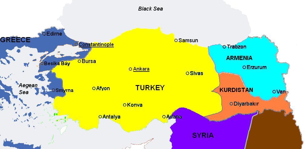 Turecko po 1 sv. válce