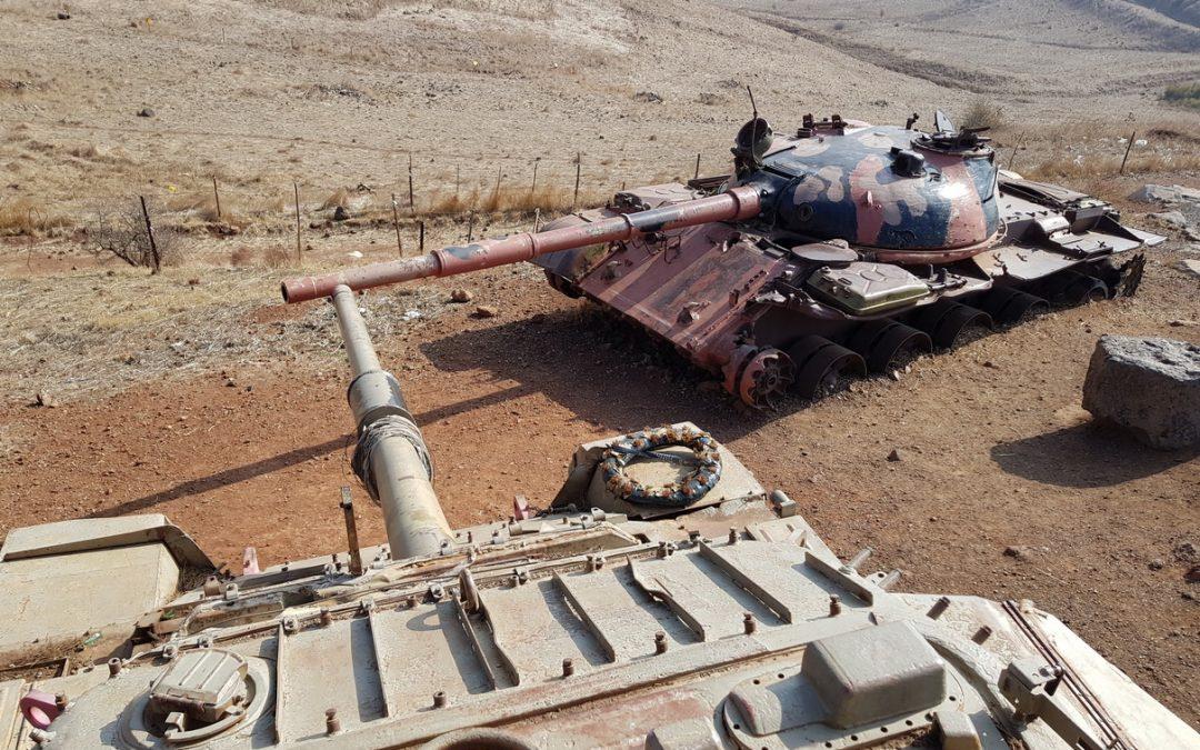 Válečné šrámy na Golanech dnes