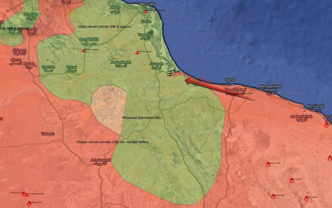 Situace v Libyi – útok LNA u Syrty