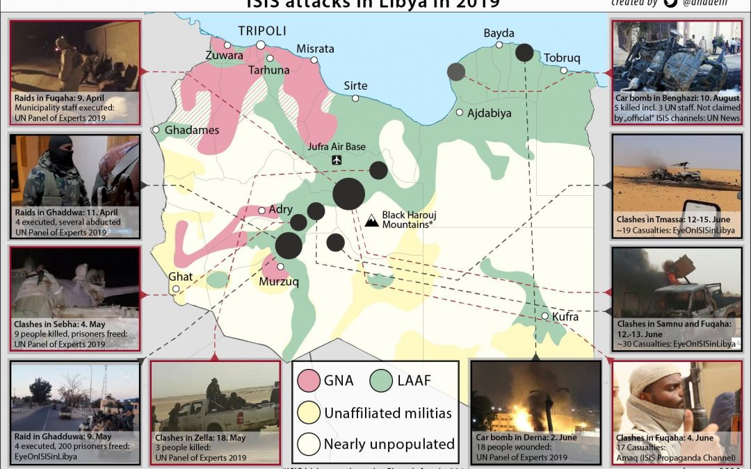 Útoky IS v Libyi za rok 2019