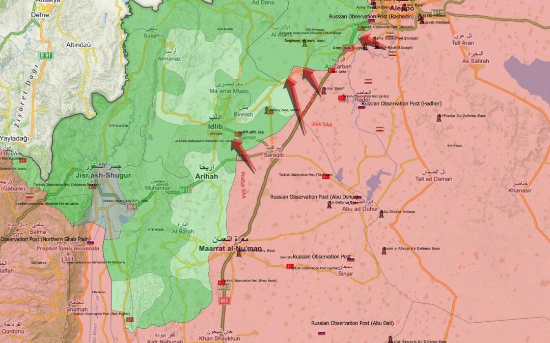 Vojenská situace v syrské provincii Idlíb