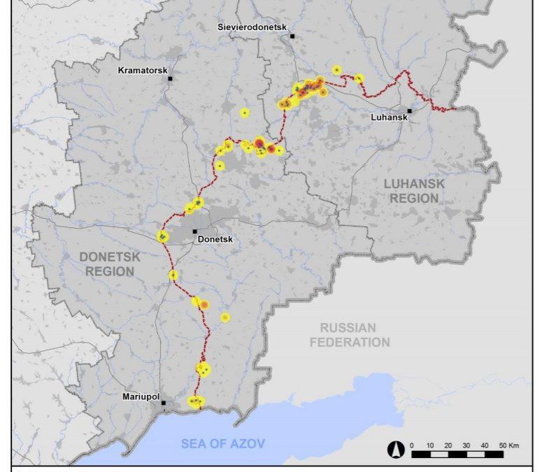 Porušování příměří na východní Ukrajině