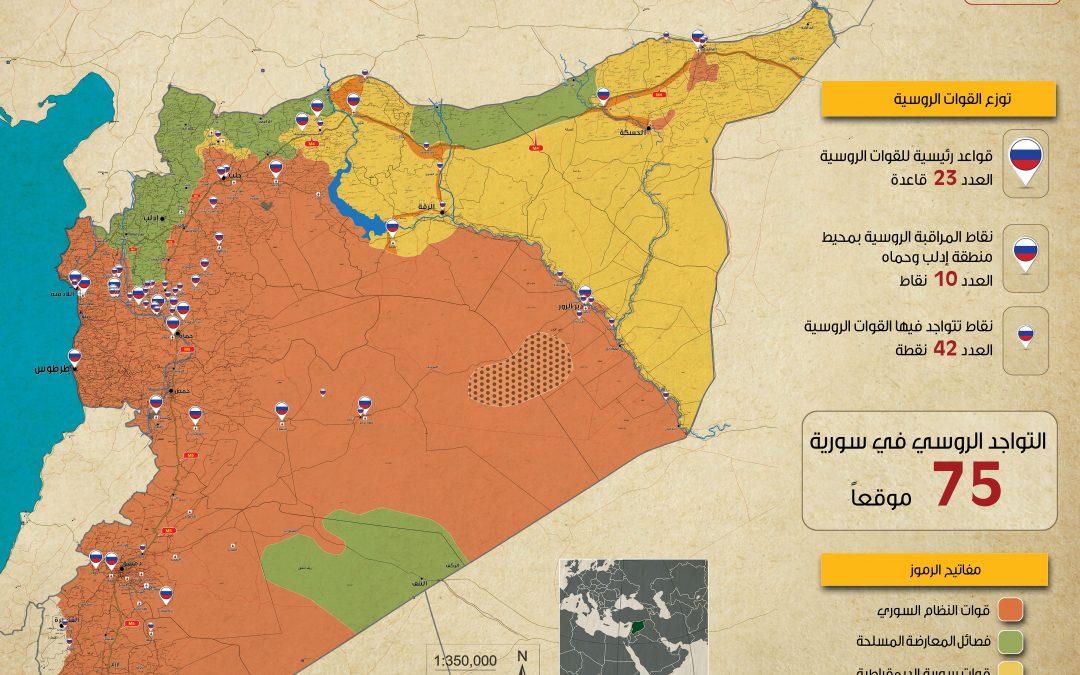 Mapa ruských základen v Sýrii