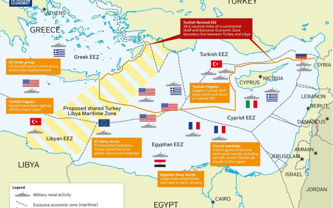 Mapa problematické oblasti středomoří