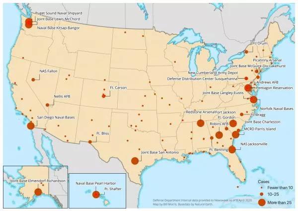 Armáda USA značně zasažena koronavirem