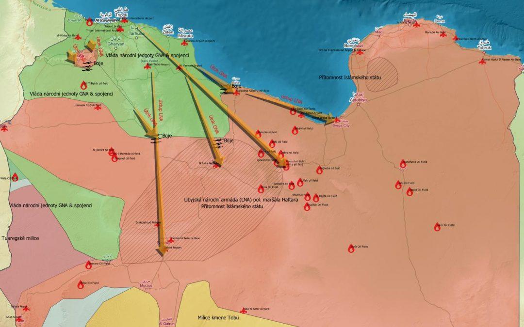 Vojenská situace v Libyi po odmítnutí příměří