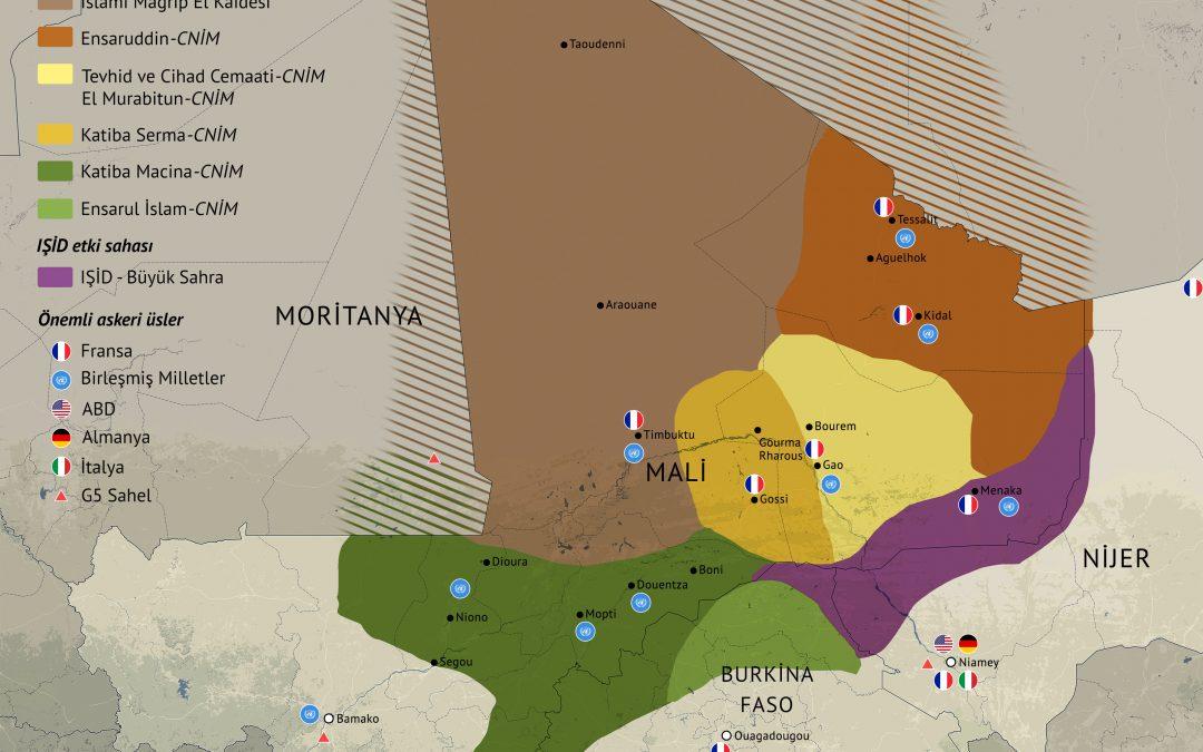 Mapa kontroly v oblasti SAHELu