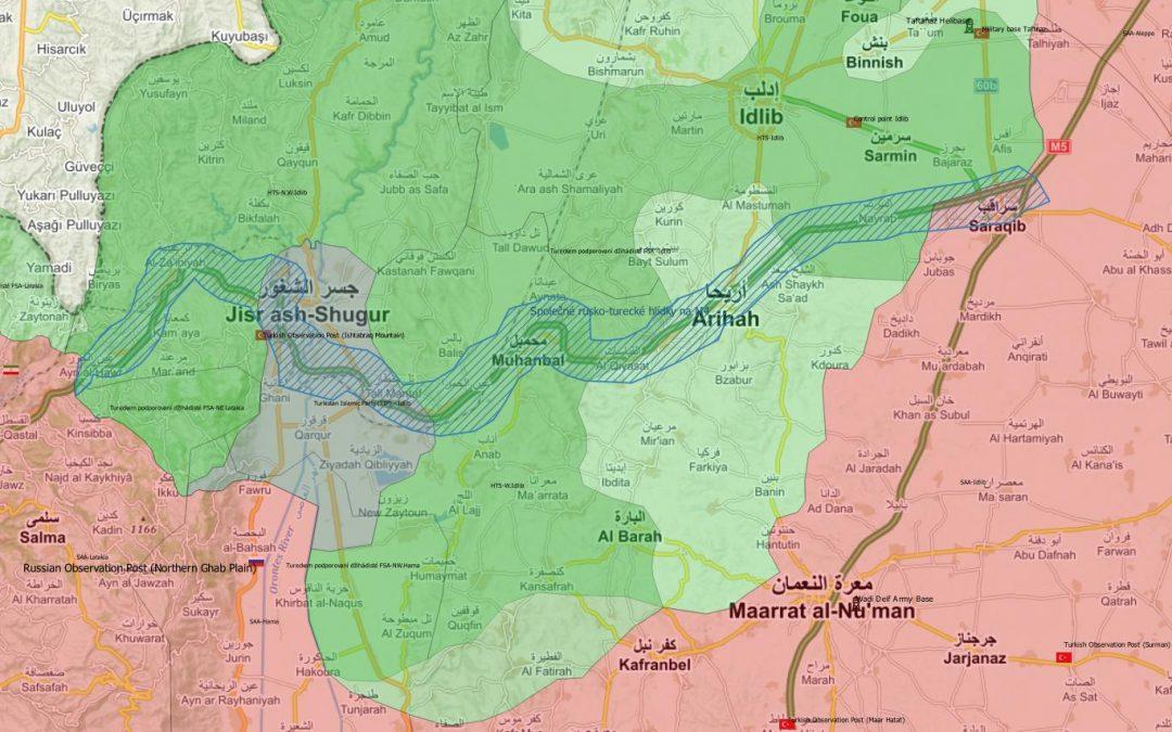 Rusko-turecké jednotky kontrolují dálnici M4