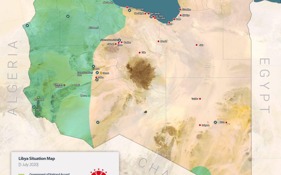 Vojenská situace v Libyi dle turecké vlády
