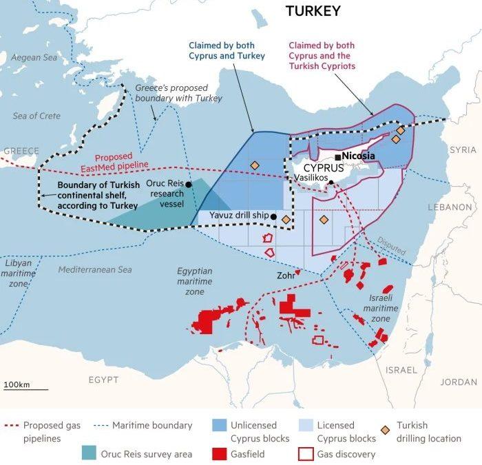 Mapka konfliktu ve Středomoří
