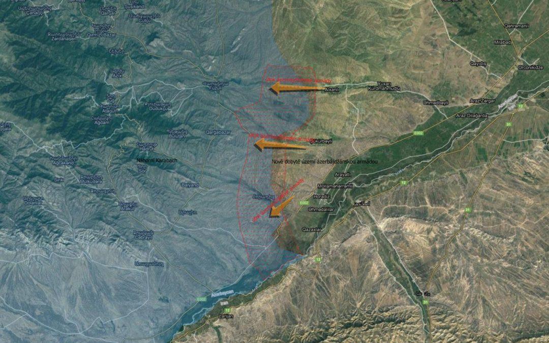 Ázerbájdžán obsadil 5 vesnic – mapa