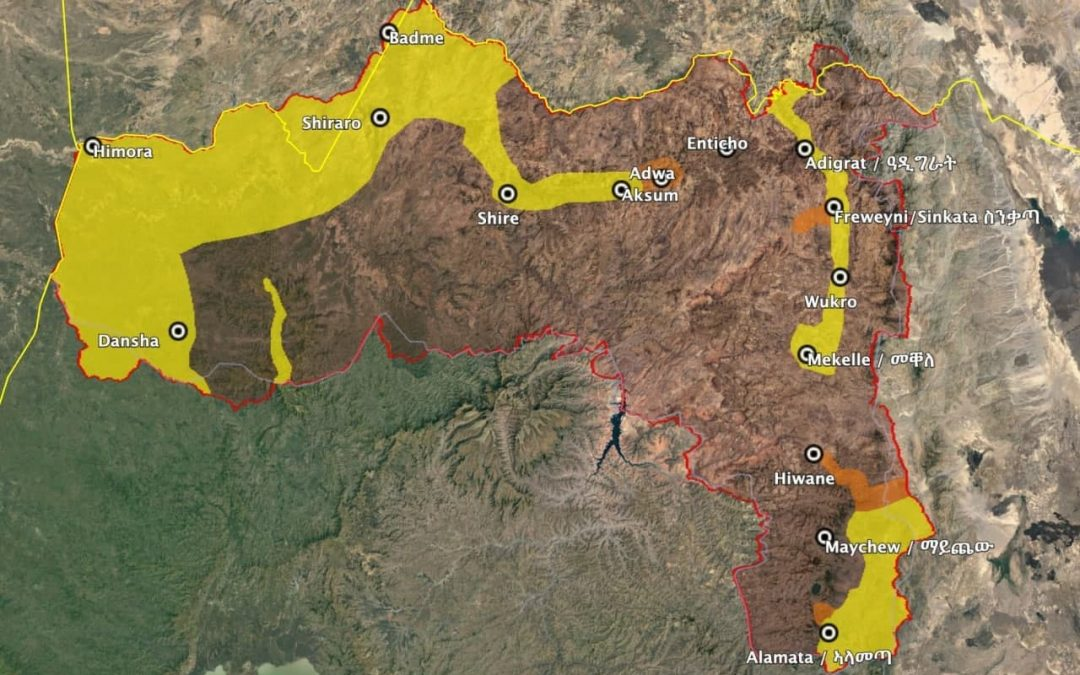 Vojenská situace v etiopské provincii Tigraj