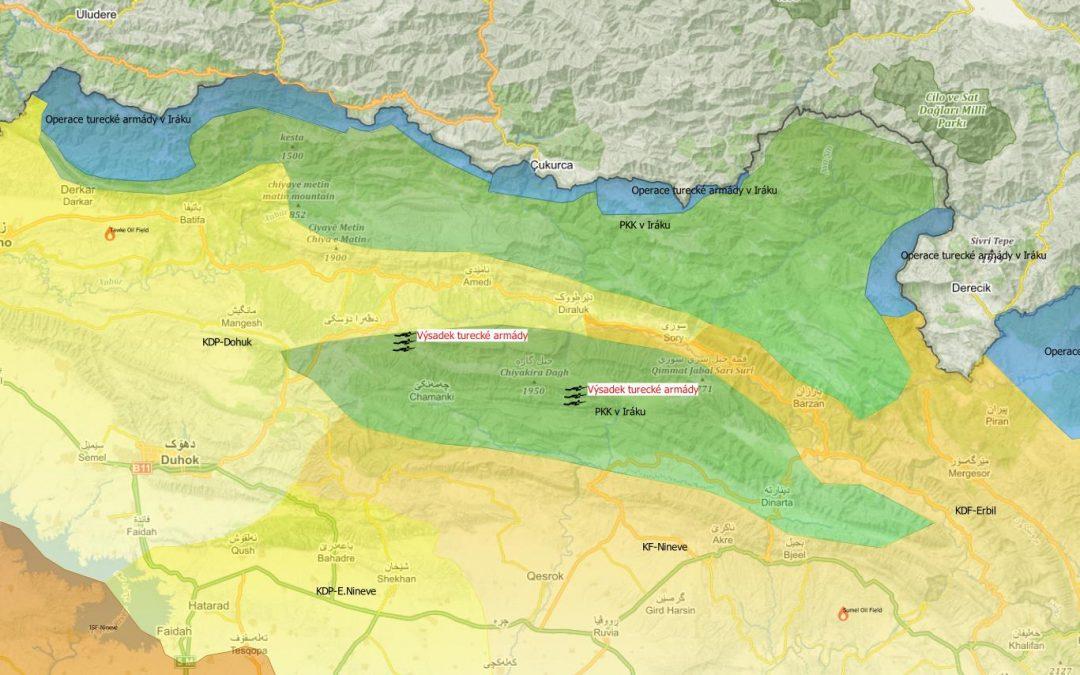 Výsadek turecké armády v severním Iráku