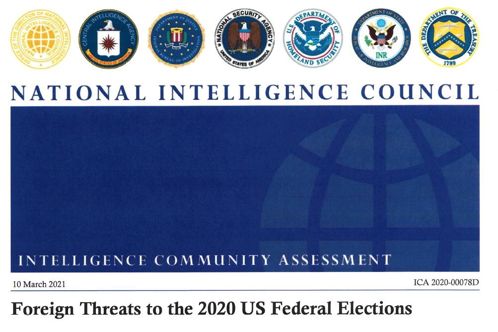 Zpráva tajných služeb USA o ovlivňování prezidentských voleb 2020