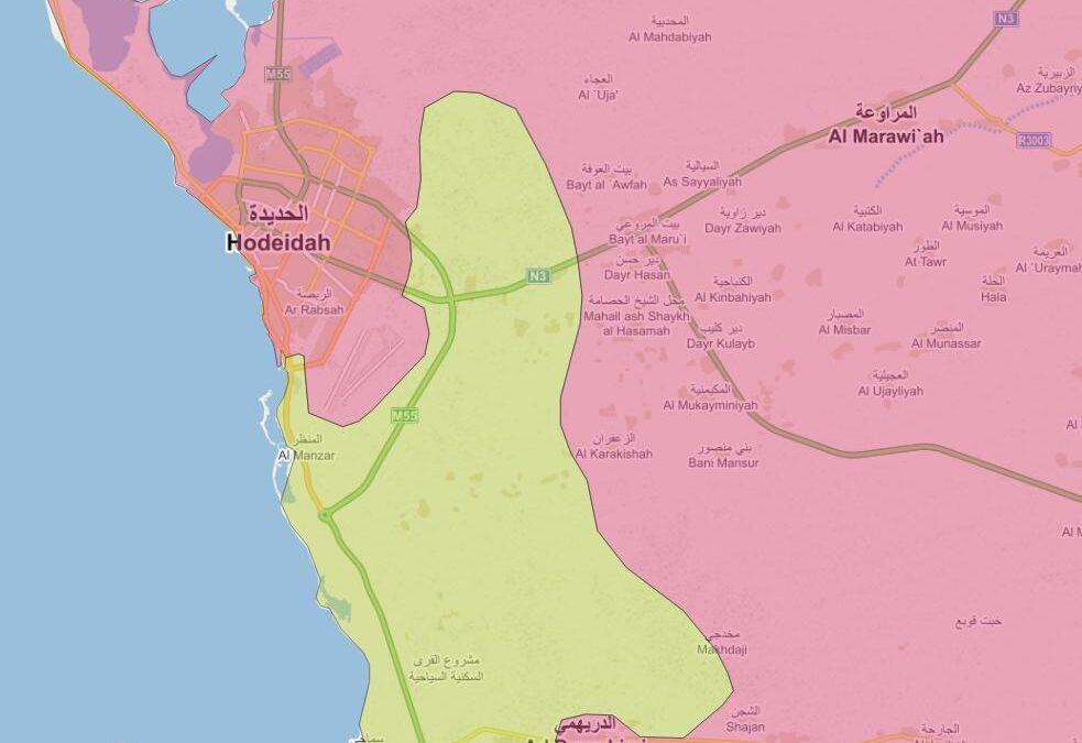 Vojenská situace v oblasti Hudajda – Jemen