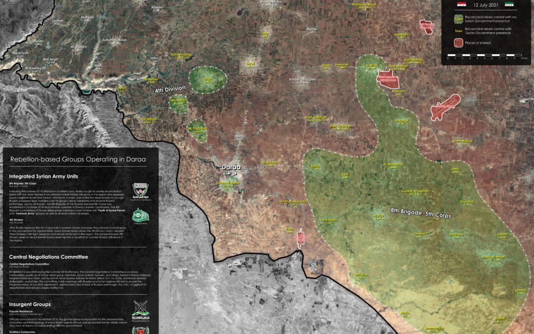 Vojenská situace v syrské provincii Daraa